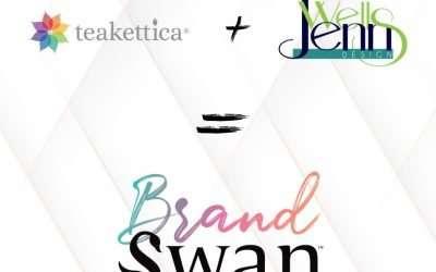 BrandSwan Beginnings – Teakettica & Jenn Wells Design Merge as BrandSwan