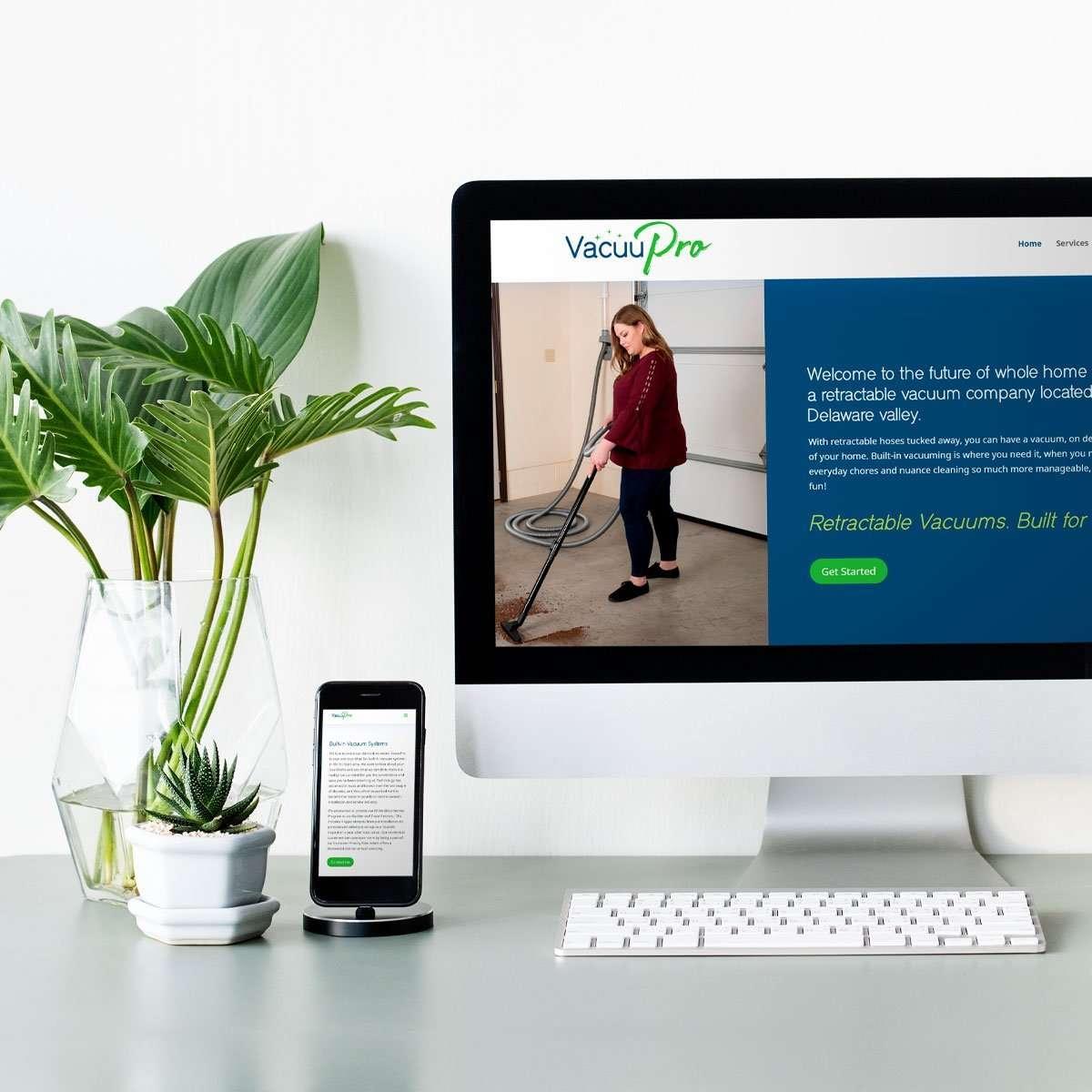 VacuuPro Web Design by BrandSwan, a web design company