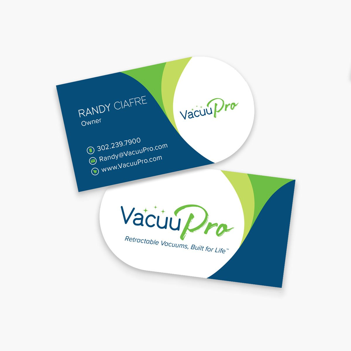 Vacuupro Business Cards Design by BrandSwan, a graphic design company