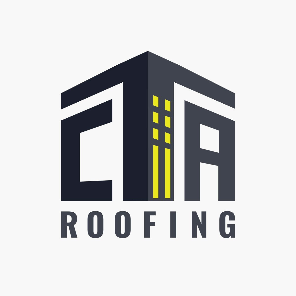 Roofing company logo design from BrandSwan, a Delaware branding agency