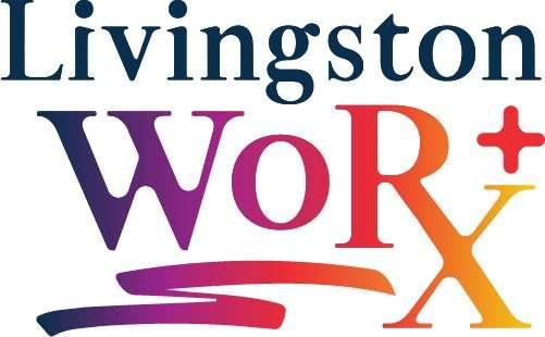 Livingston Worx logo, designed by woman-owned branding agency, BrandSwan