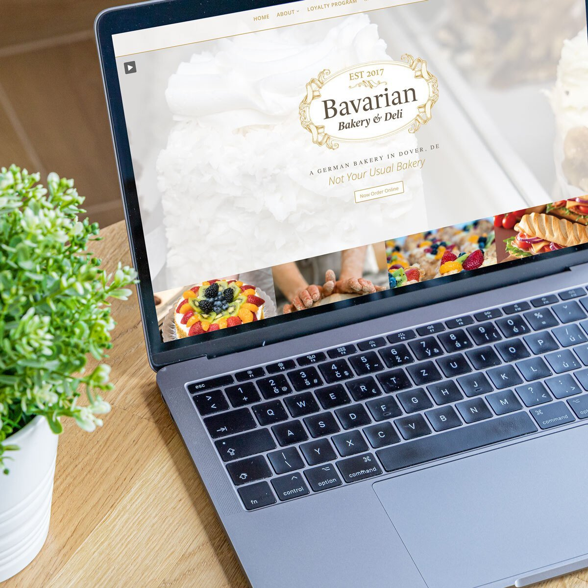 Bavarian Bakery Web Design by BrandSwan, a web design company