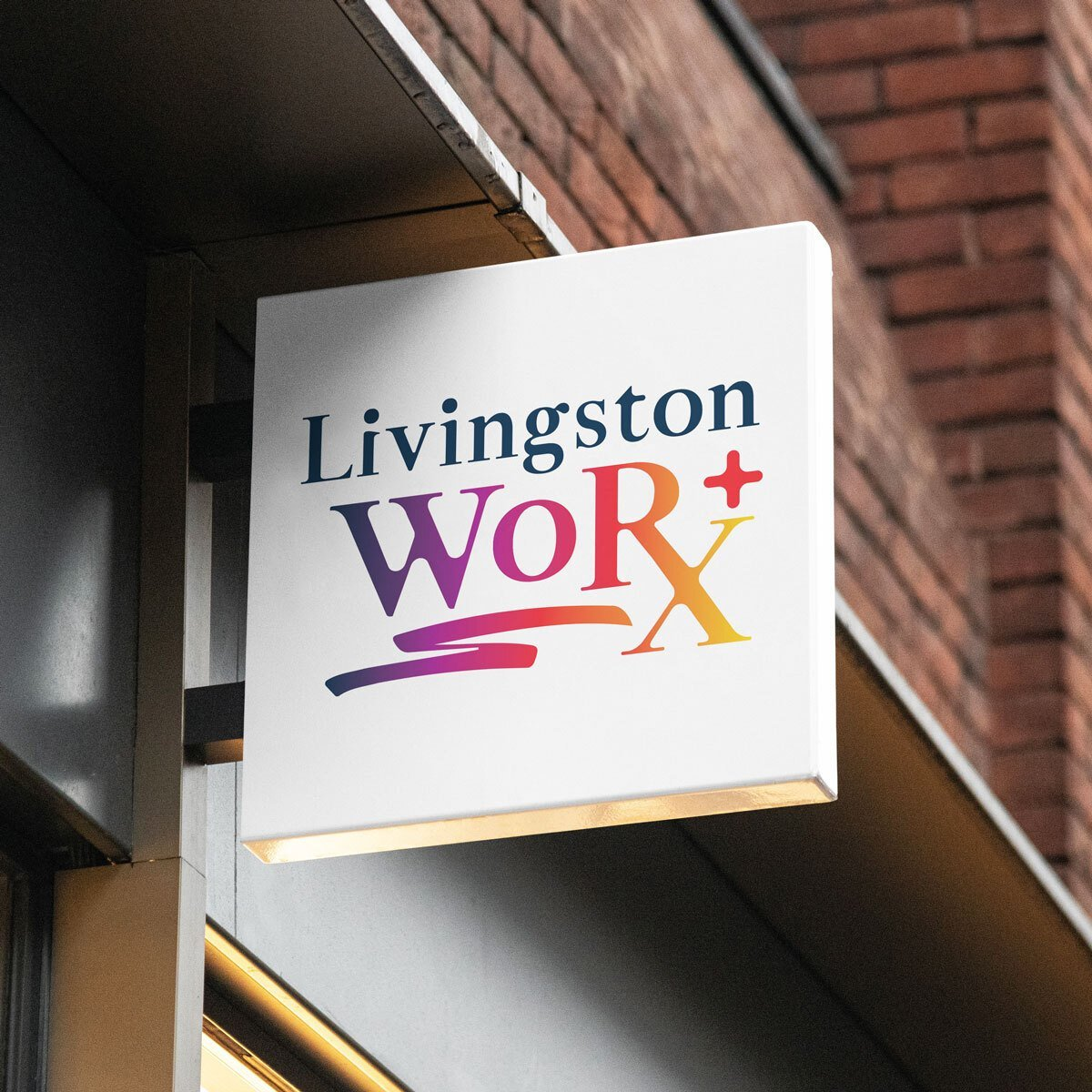 Livingston WoRX Logo Design by BrandSwan, a logo design company