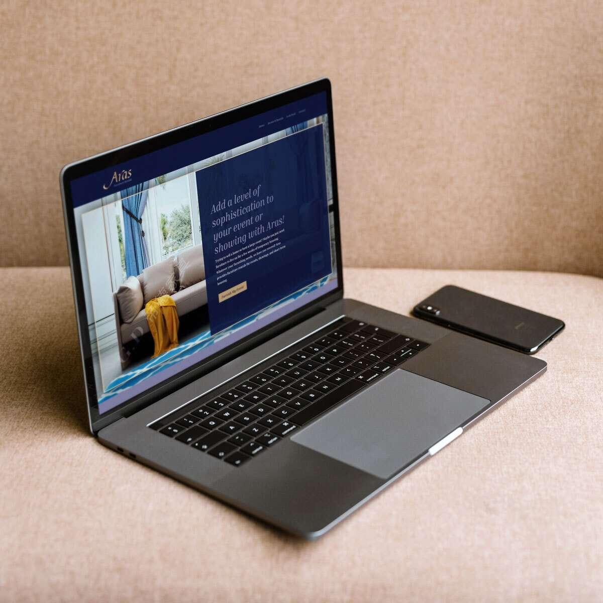 Aras Web Design by BrandSwan, a web design company
