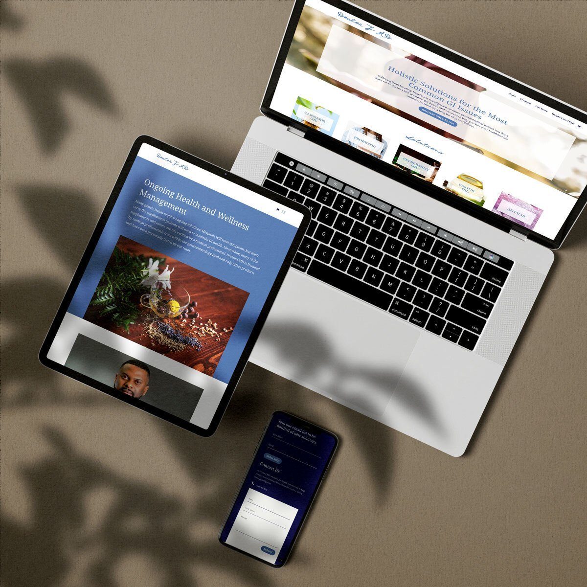 Doctor J MD Web Design by BrandSwan, a web design company