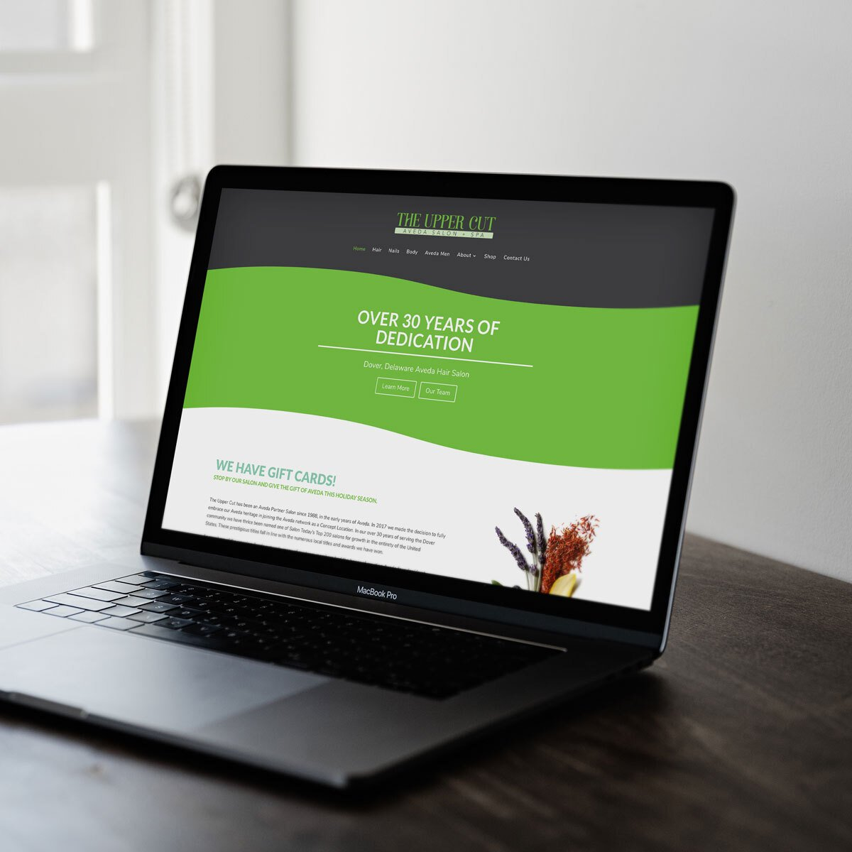 The Upper Cut Salon Web Design by BrandSwan, a web design company