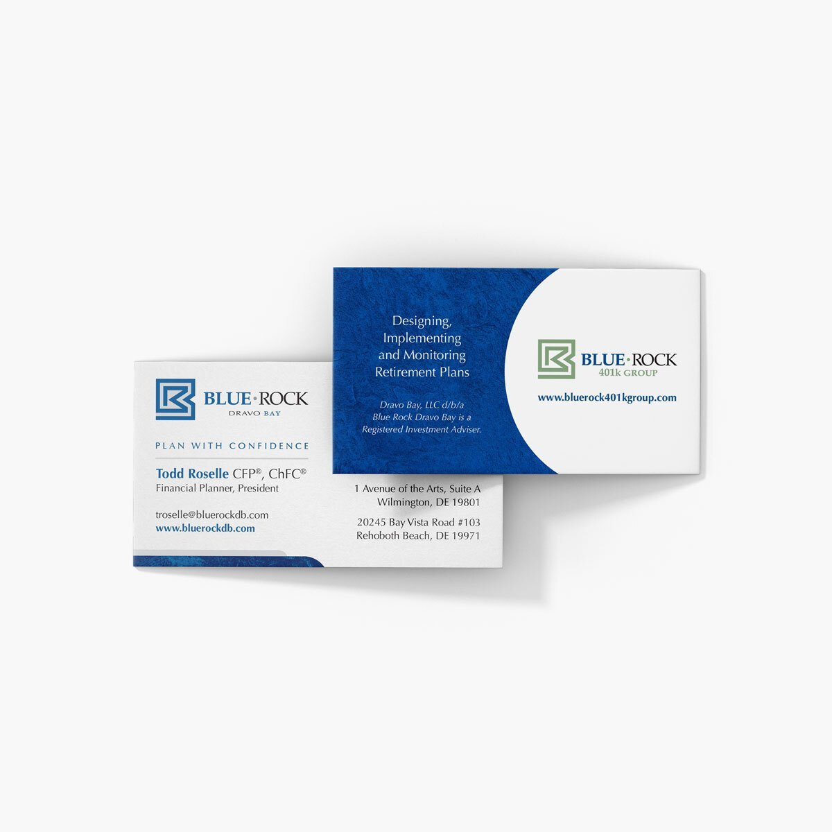 Blue Rock Dravo Bay Business Cards Design by BrandSwan, a graphic design company