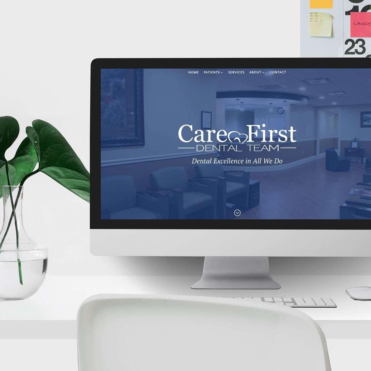 Care First Dental Team Web Design by BrandSwan, a web design company