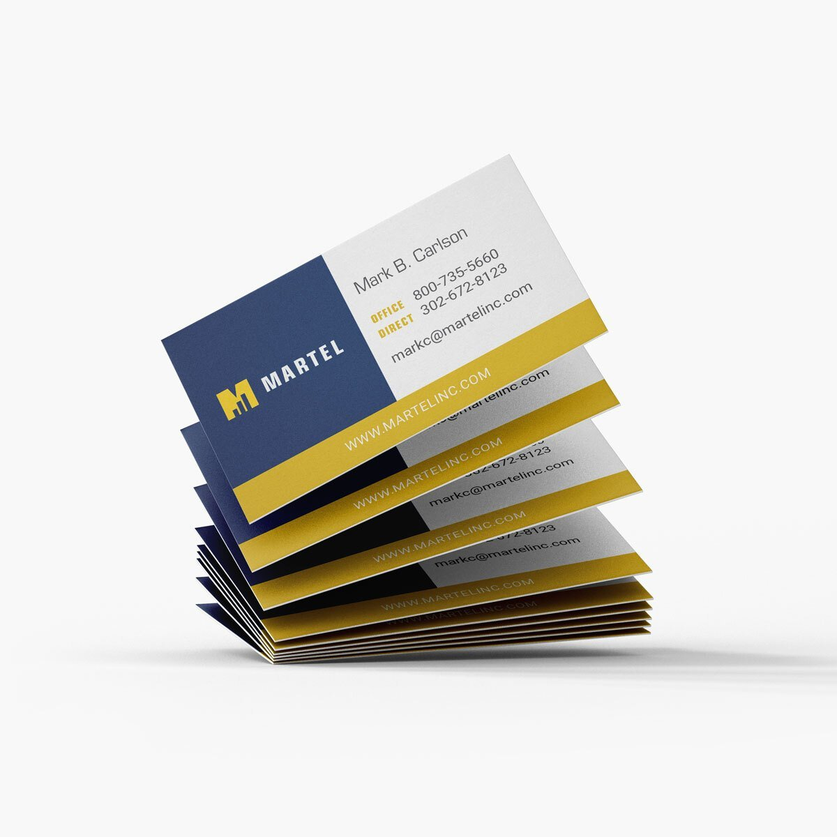 Martel Business Cards Design by BrandSwan, a graphic design company