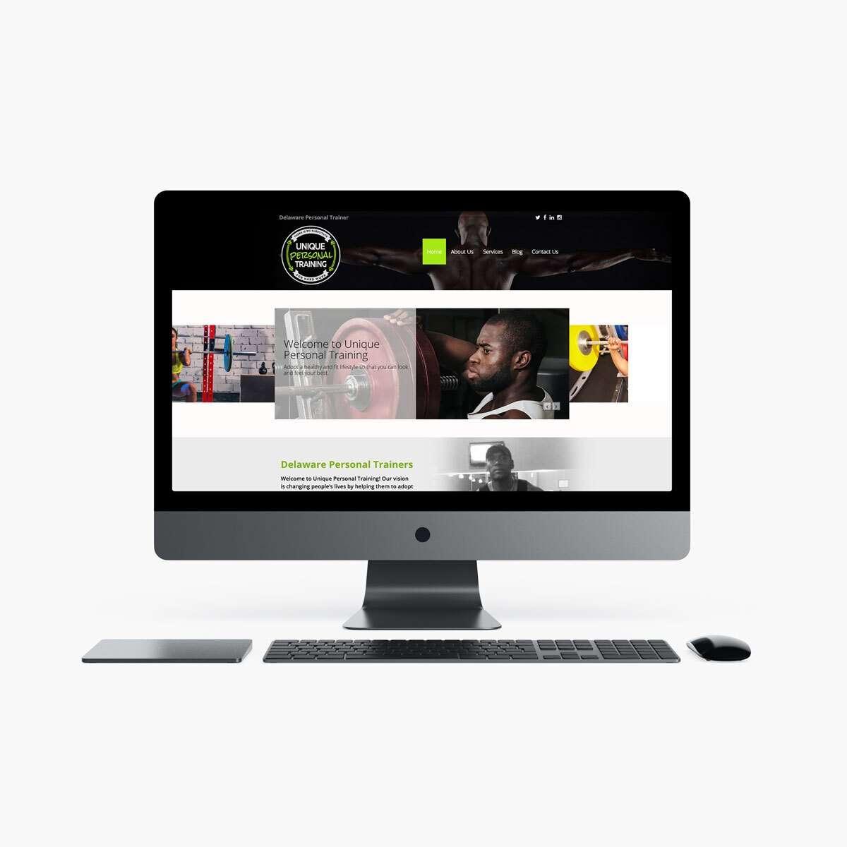 Unique Personal Training Web Design by BrandSwan, a web design company