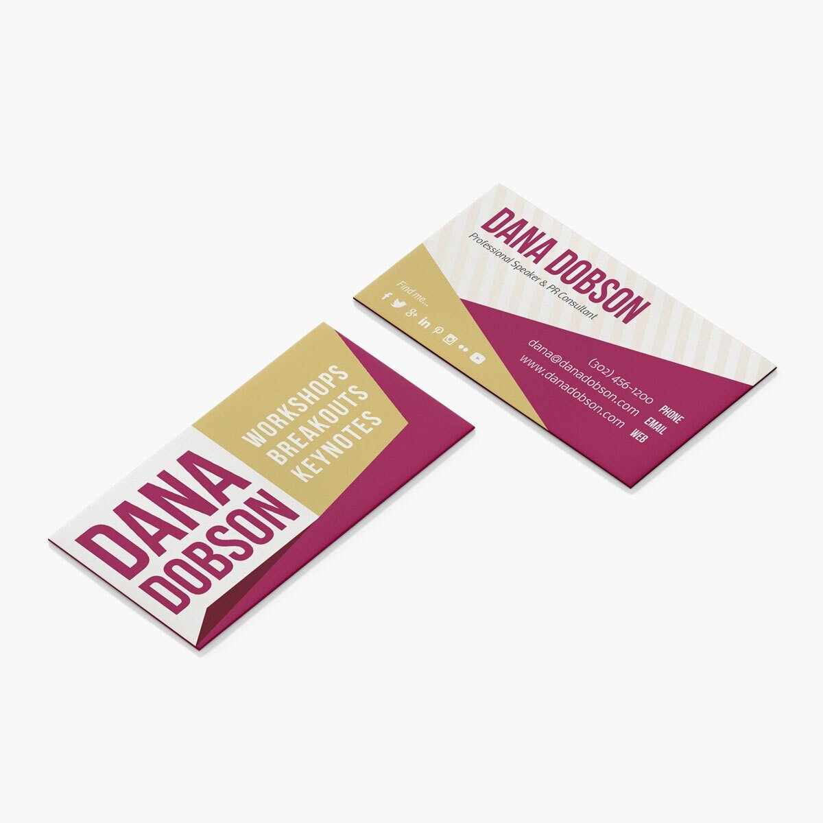 Dana Dobson Business Cards Design by BrandSwan, a graphic design company