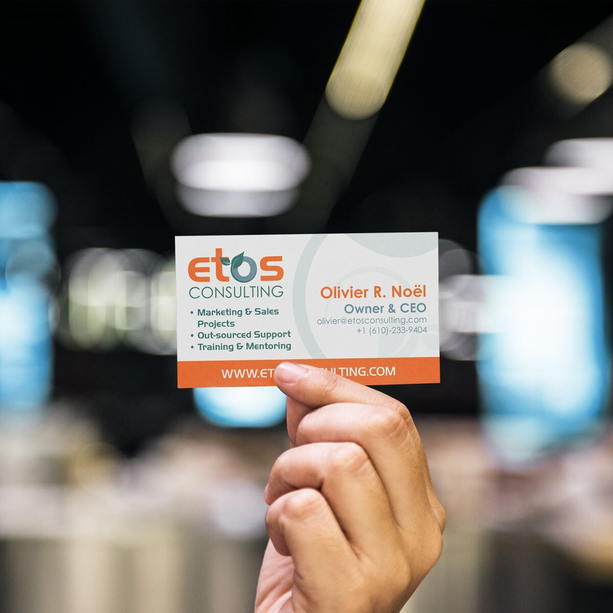 ETOS Consulting Business Card Design by BrandSwan, a graphic design company