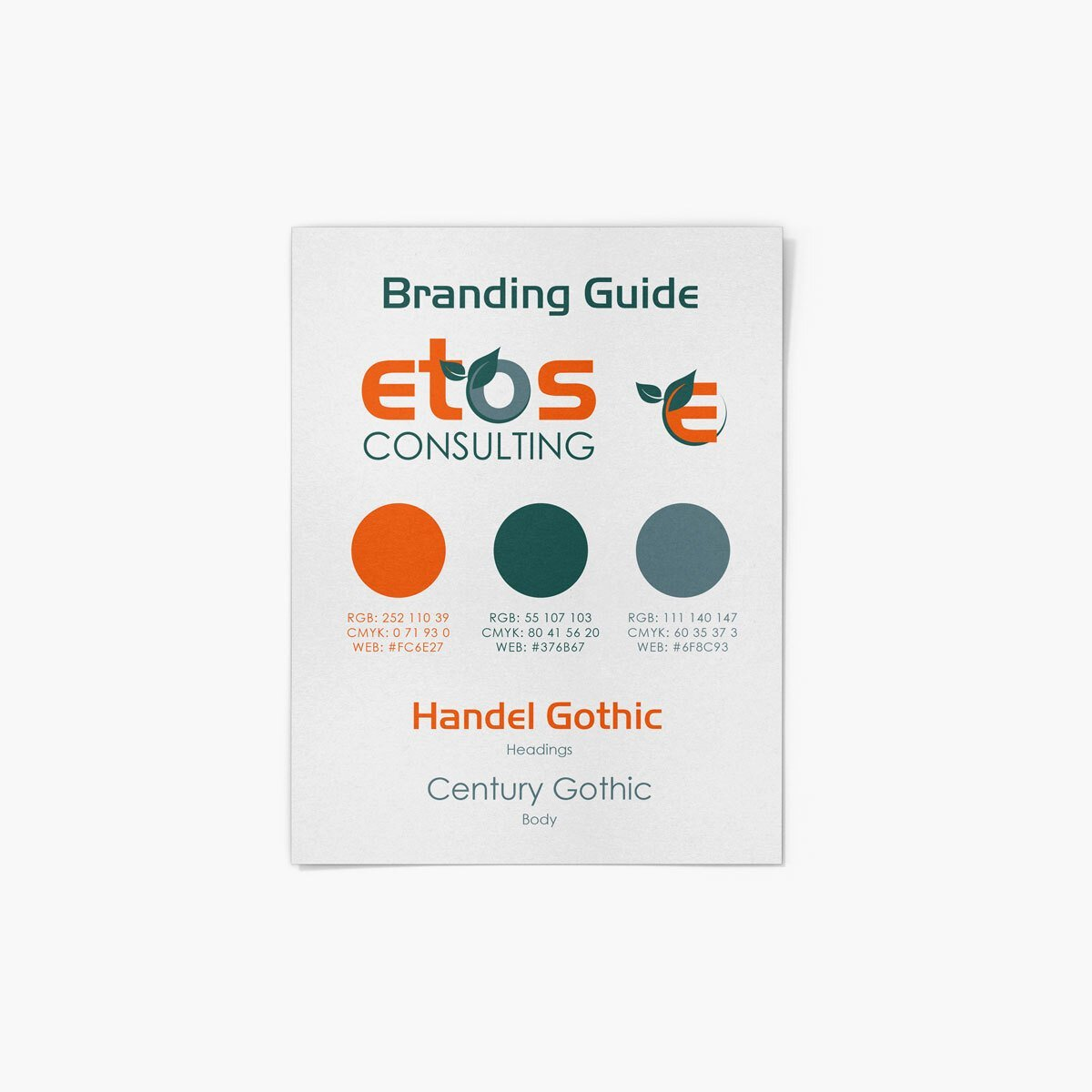 ETOS Consulting Brand Design by BrandSwan, a brand design company