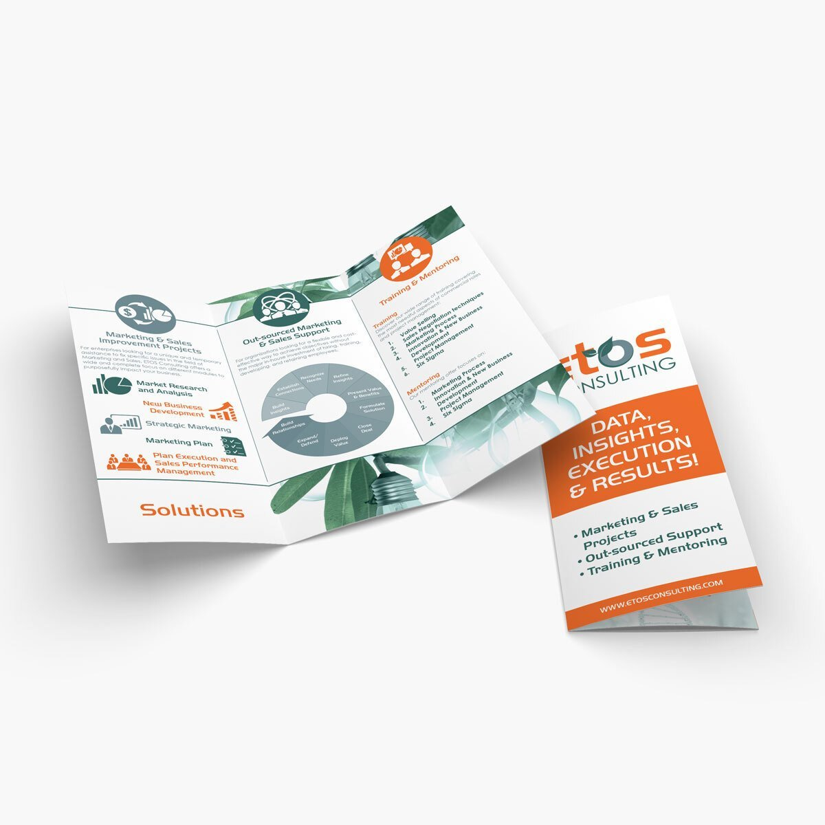 ETOS Consulting Brochure Design by BrandSwan, a graphic design company