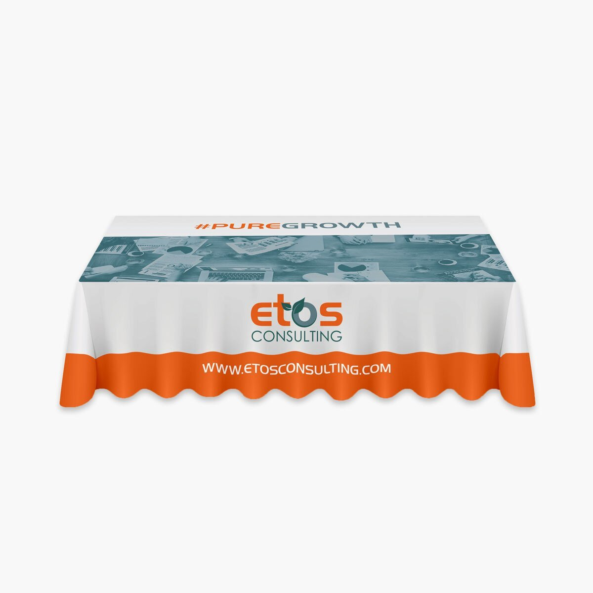 ETOS Consulting Table Design by BrandSwan, a graphic design company