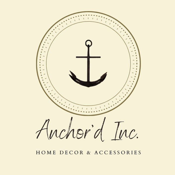 Logo for Anchor Inc, a woman-owned home decor business that gives back