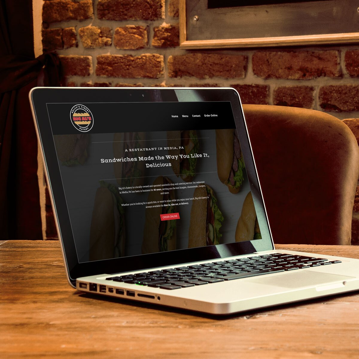 Big Al's Eatery Web Design by BrandSwan, a web design company