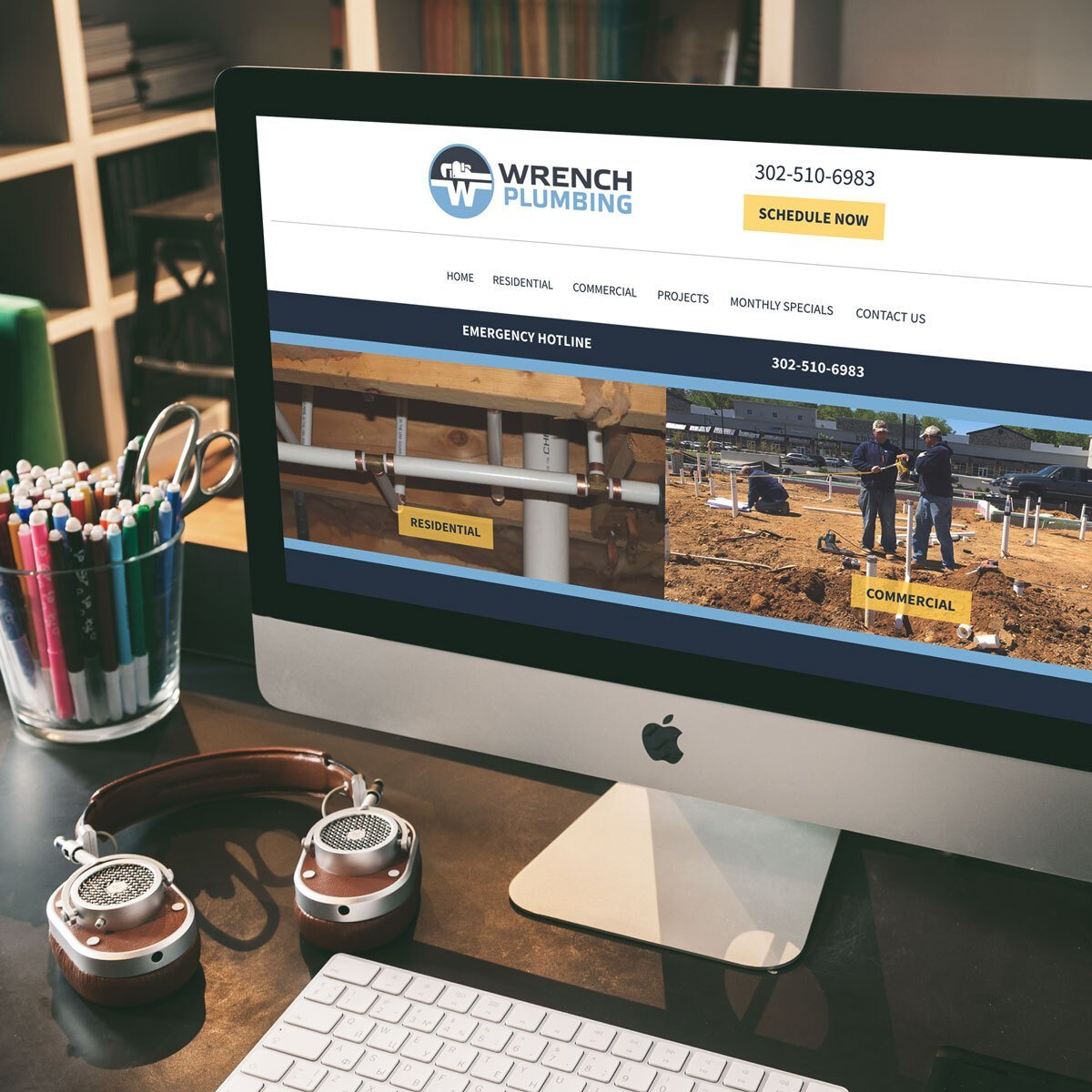 Wrench Plumbing Web Design by BrandSwan, a web design company